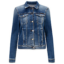 Buy Calvin Klein Jet Trucker Jacket, Waterfall Online at johnlewis.com