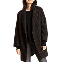 Buy Levi's Carina Wool Mix Coat, Black Online at johnlewis.com