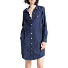 Buy Levi's Iconic Western Dress, Authentic Blue Online at johnlewis.com