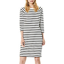Buy Selected Femme Natali Stripe Jersey Dress, Snow White/Grape Online at johnlewis.com