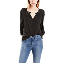 Buy Levi's Lena Blouse, Jet Black Online at johnlewis.com