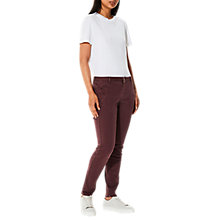 Buy Selected Femme Ingrid Chino Trousers, Mauve Wine Online at johnlewis.com