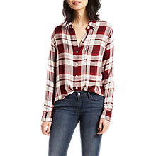 Buy Levi's Boyfriend Check Shirt, Red Online at johnlewis.com