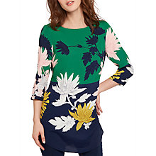 Buy Joules Felicia Printed Woven Tunic Top, Oak Green Fay Floral Online at johnlewis.com