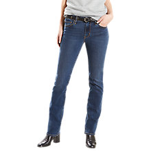 Buy Levi's 714 Mid Rise Straight Jeans, Wanderlove Online at johnlewis.com
