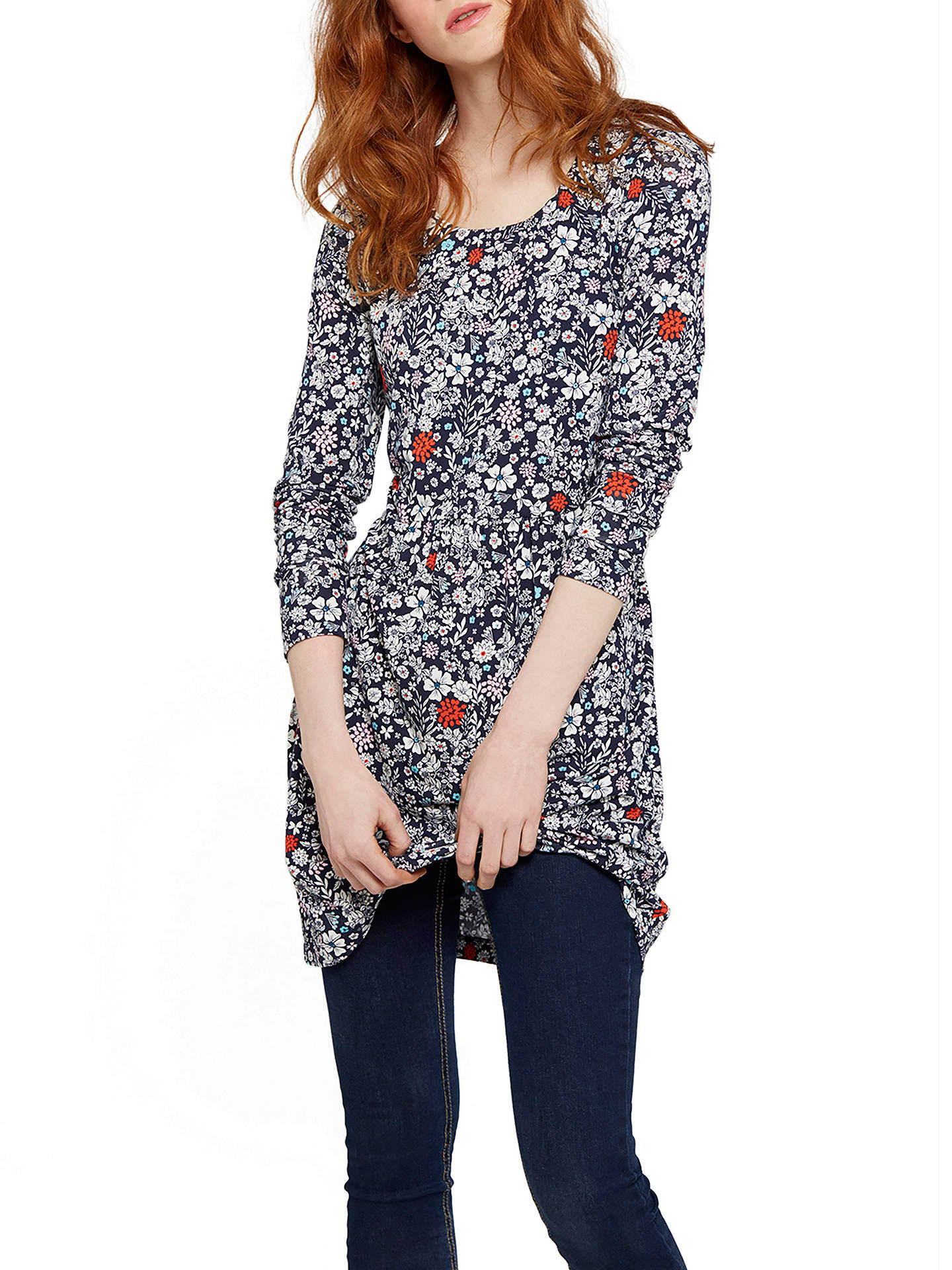 cef1e8a11d8 Buy Joules Kirsten Jersey Tunic Dress, French Navy Ditsy, 8 Online at  johnlewis.