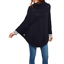 Buy Joules Perdy Chunky Roll Neck Poncho Online at johnlewis.com