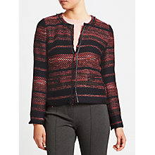 Buy Gerry Weber Edge To Edge Textured Jacket, Indigo/Bordeaux Online at johnlewis.com