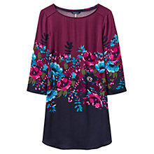 Buy Joules Felicia Printed Woven Tunic Top, French Navy Plum Camellia Border Online at johnlewis.com
