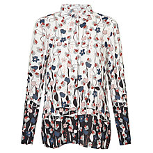 Buy Gerry Weber Long Sleeve Print Shirt, Off White/Black/Denim Online at johnlewis.com