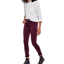 Buy Joules Monroe Skinny Jeans, Burgundy Online at johnlewis.com
