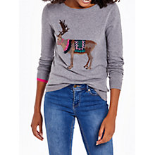Buy Joules Festive Intarsia Jumper, Grey Reindeer Online at johnlewis.com