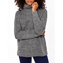 Buy Joules Prunella Funnel Neck Jumper, Grey Online at johnlewis.com