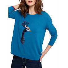 Buy Joules Merylluxe Peacock Intarsia Jumper, Teal Peacock Online at johnlewis.com
