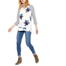Buy Joules Polly Print Top, Floral Stripe Online at johnlewis.com