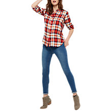 Buy Joules Laurel Check Shirt, Red Check Online at johnlewis.com