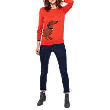 Buy Joules Long Sleeve Intarsia Jumper, Soft Red Dachshund Online at johnlewis.com
