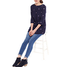 Buy Joules Felicia Printed Woven Tunic Top, French Navy Pheasant Online at johnlewis.com