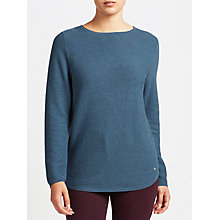 Buy Gerry Weber Ribbed Jumper, Steel Blue Melange Online at johnlewis.com