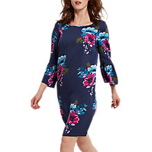 Buy Joules Gardenia Print Woven Dress, French Navy/Winter Camellia Online at johnlewis.com