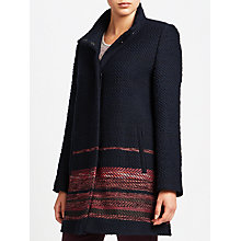 Buy Gerry Weber Single Breasted Coat with Border Trim, Navy Online at johnlewis.com