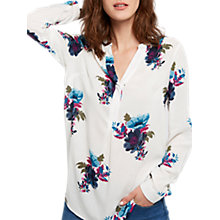 Buy Joules Rosamund Printed Blouse, Cream Winter Camellia Online at johnlewis.com