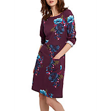 Buy Joules Iliana Print Jersey Dress, Plum Winter Camellia Online at johnlewis.com