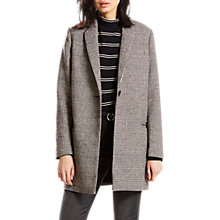 Buy Levi's Andrea Check Coat, Daisy Jet Black Online at johnlewis.com