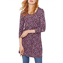 Buy Joules Kirsten Jersey Tunic Dress, Khaki Berry Ditsy Online at johnlewis.com