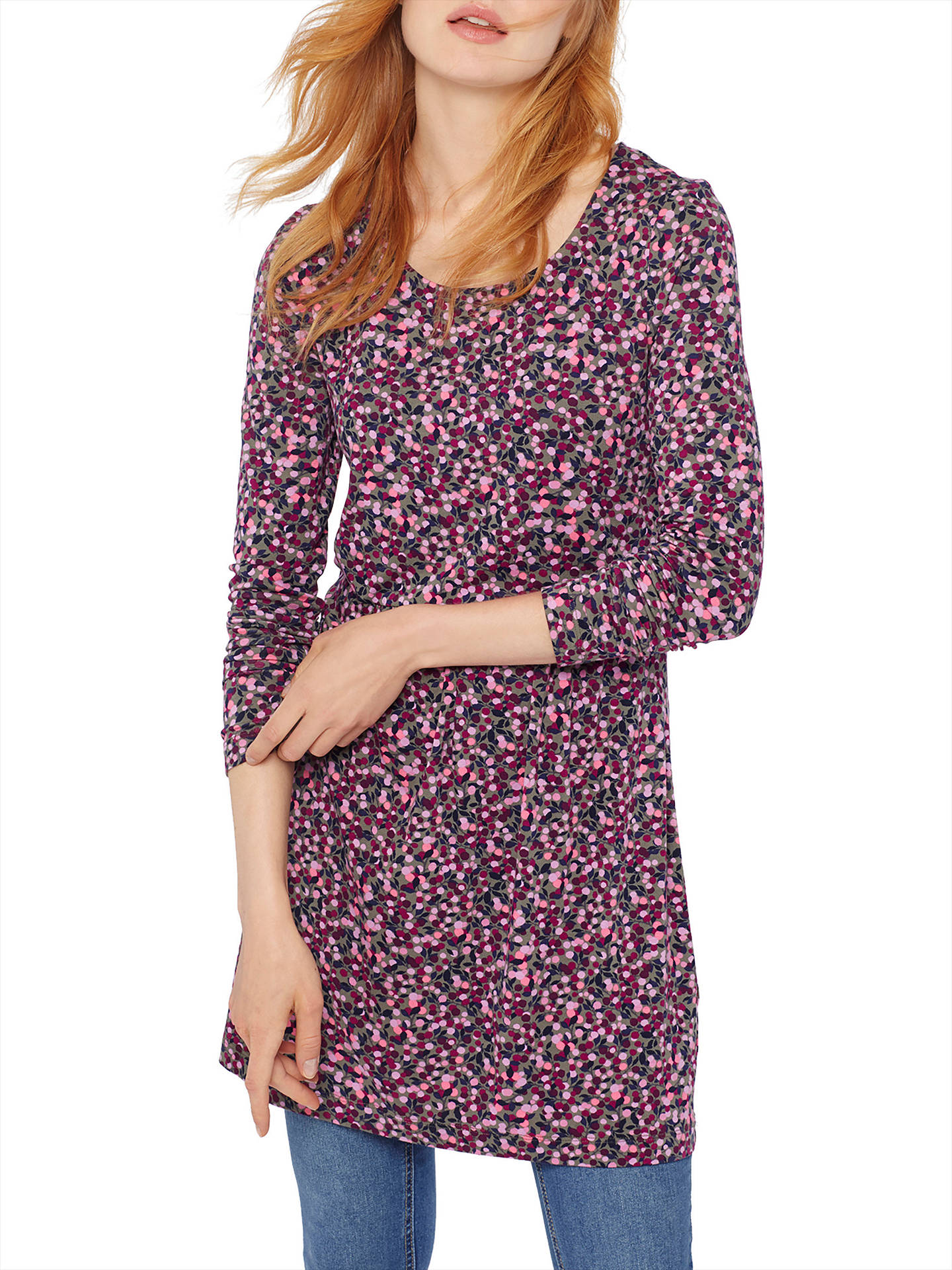 101c7695ad6 Buy Joules Kirsten Jersey Tunic Dress, Khaki Berry Ditsy, 8 Online at  johnlewis.