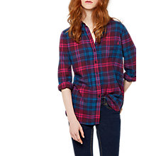 Buy Joules Lorena Check Shirt, Navy Pink Check Online at johnlewis.com