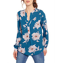 Buy Joules Rosamund Printed Blouse, Dark Topaz Peony Online at johnlewis.com