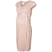Buy Mamalicious Mivana Cap Jersey Dress, Peach Online at johnlewis.com