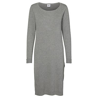 Mamalicious Mariah Nell Long Sleeve Maternity Nursing Dress, Grey Melange