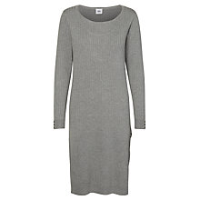 Buy Mamalicious Mariah Nell Long Sleeve Maternity Nursing Dress, Grey Melange Online at johnlewis.com