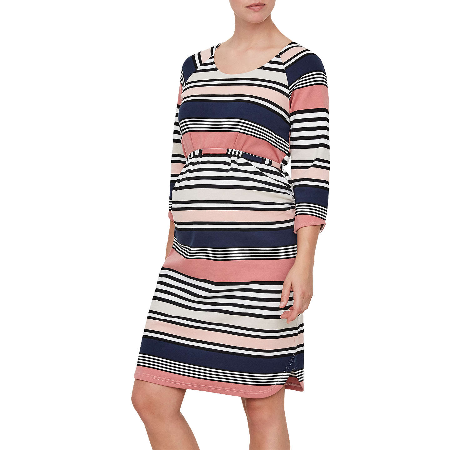 BuyMamalicious Dizzy 3/4 Jersey Maternity Dress, Rose, S Online at johnlewis.com