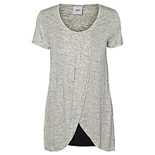 Buy Mamalicious Tacey Iris Maternity Nursing Top, Grey Melange Online at johnlewis.com