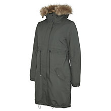 Buy Mamalicious Jessie Parka Maternity Coat, Khaki Online at johnlewis.com