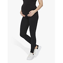 Buy Mamalicious Lea Organic Long Jersey Maternity Leggings, Pack of 2, Black Online at johnlewis.com