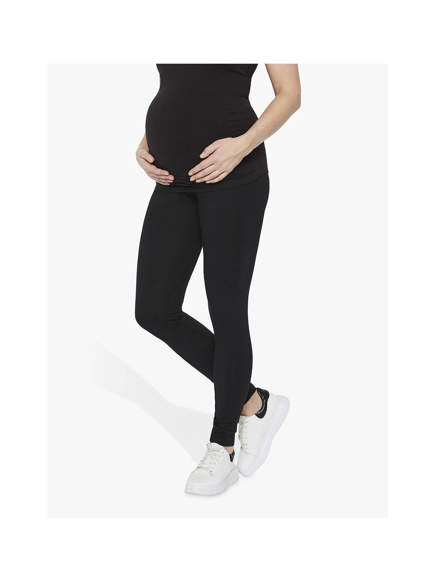 8ccd033a51b769 Buy Mamalicious Lea Organic Long Jersey Maternity Leggings, Pack of 2,  Black, S ...