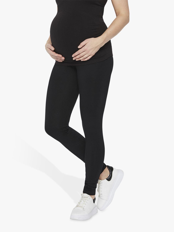 Mamalicious Mamalicious Lea Organic Long Jersey Maternity Leggings, Pack of 2, Black