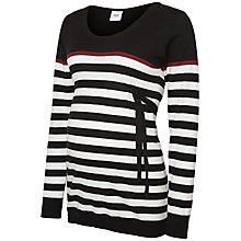 Buy Mamalicious Anic Nell Long Sleeve Knit Top, Black Online at johnlewis.com