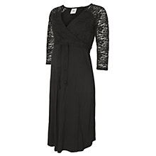 Buy Mamalicious Winnie Lace Detail Jersey Maternity Dress, Black Online at johnlewis.com
