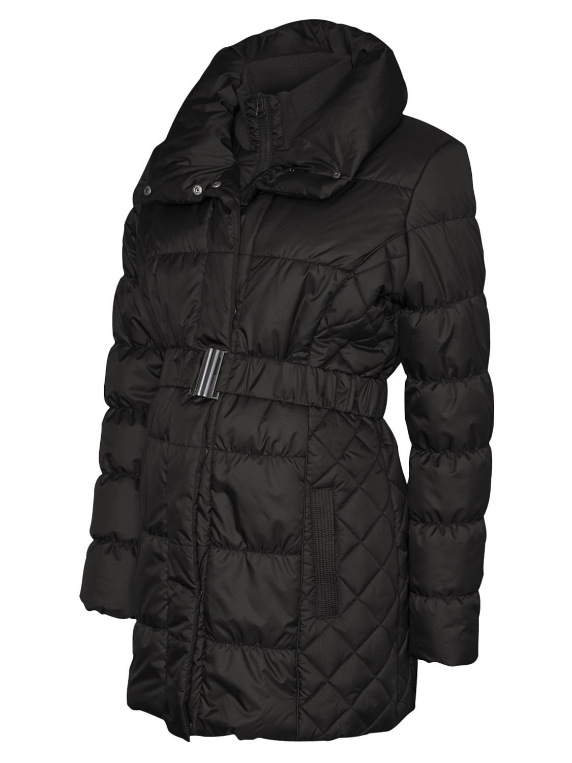 9892aa690 Mamalicious Zita Long Quilted Padded Maternity Coat