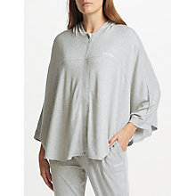 Buy Calvin Klein Zip Hoodie Poncho Top, Grey Heather Online at johnlewis.com