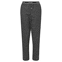 Buy Calvin Klein Logo Pyjama Bottoms, Black Online at johnlewis.com