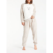Buy John Lewis Cat Fleece Twosie, Taupe/Ivory Online at johnlewis.com