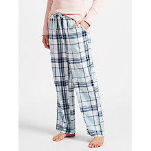 Buy John Lewis Enna Check Pyjama Bottoms, Aqua Online at johnlewis.com