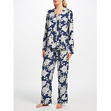 Buy John Lewis Inga Floral Print Pyjama Set, Navy/White Online at johnlewis.com