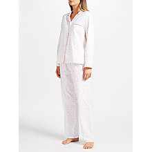 Buy John Lewis Etienne Tiny Star Print Pyjama Set, Ivory/Red Online at johnlewis.com